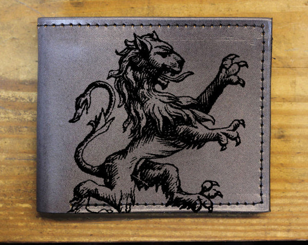 Compact Bi-Fold - Lion Leather Wallet