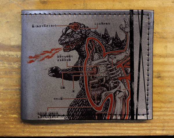 Compact Bi-Fold - Godzilla Leather Wallet