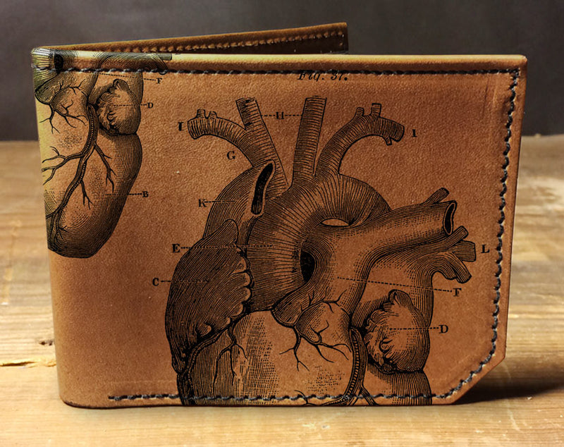 Anatomical Heart - Printmaker Leather Wallet