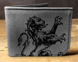 Lion Roar - Printmaker Leather Wallet