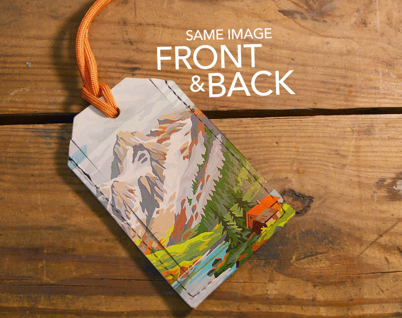 Painted Mountains - Luggage Tag Wholesale