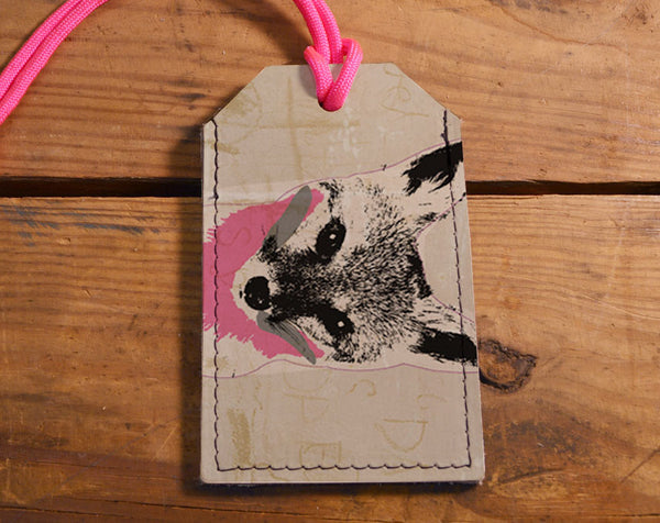 Fox - Leather Luggage Tag