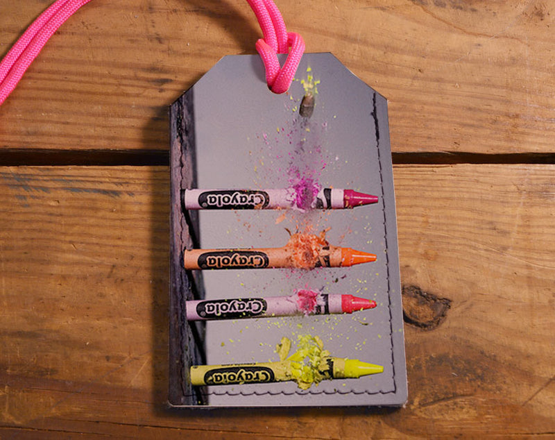 Crayons - Leather Luggage Tag
