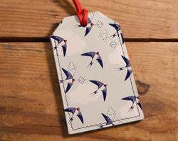 Swift Birds - Leather Luggage Tag