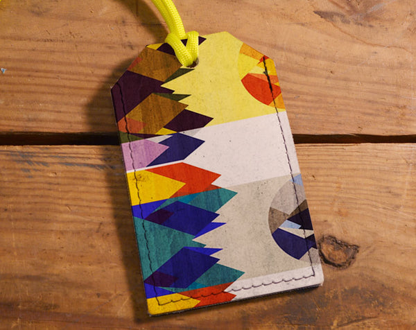 Abstract Mountains - Luggage Tag Wholesale