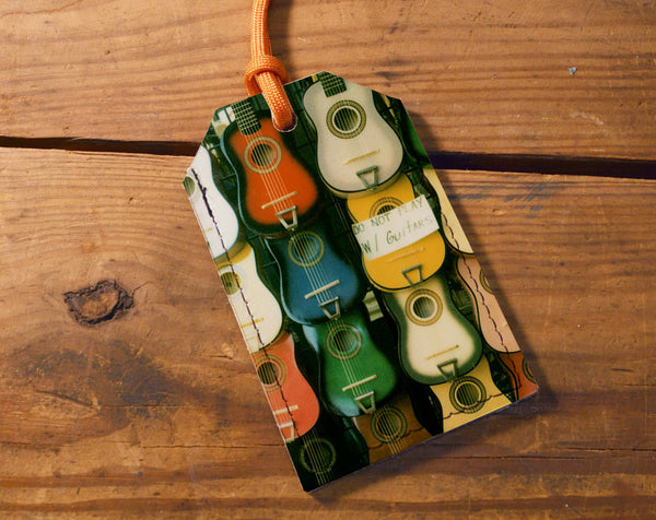 Guitars - Leather Luggage Tag