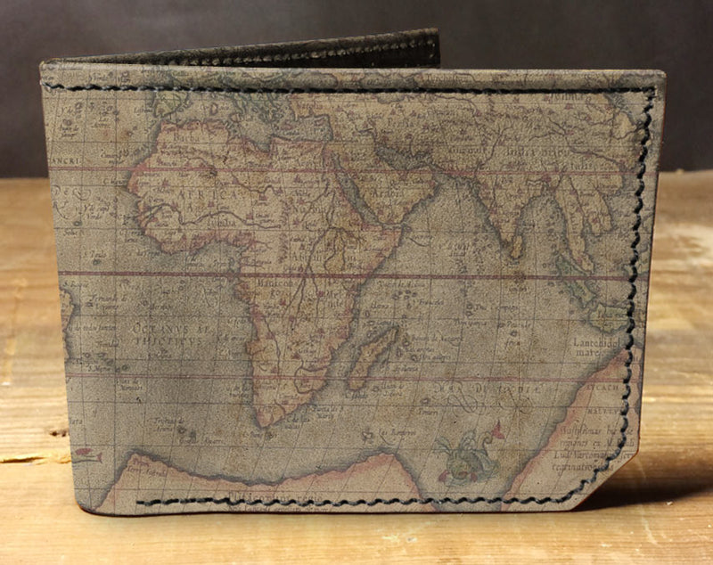 World Map - Spectrum Leather Wallet
