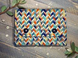 Bright Chevrons - Midi Travel Wallet