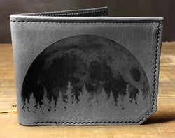 Moon Trees - Printmaker Leather Wallet