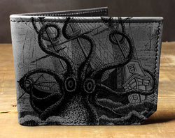 Octopus Attacks - Printmaker Leather Wallet