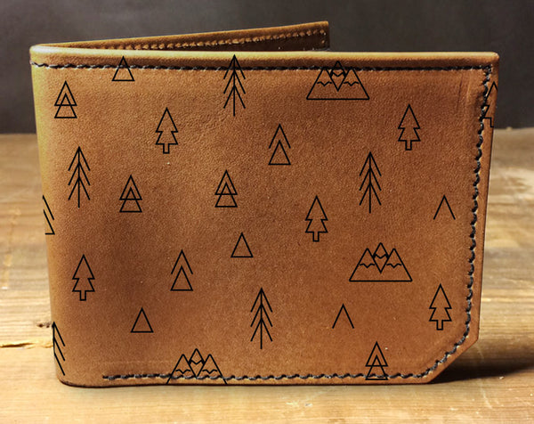 Outdoor Pattern - Printmaker Leather Wallet