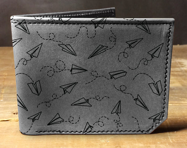Paper Planes - Printmaker Leather Wallet