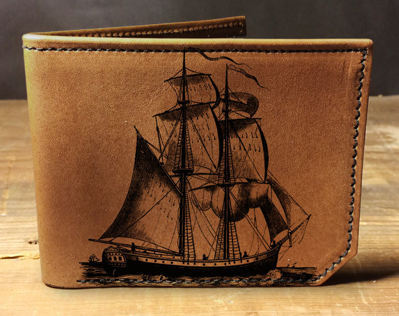 Pirate Ship - Printmaker Leather Wallet