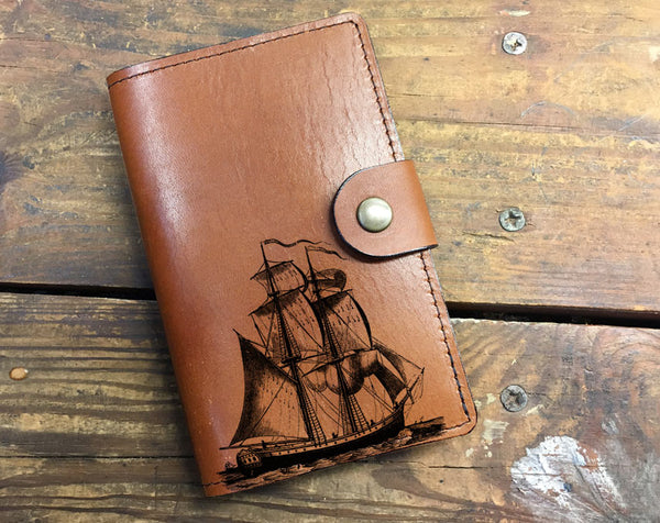 Sailing Ship - Leather Journal Cover Wholesale