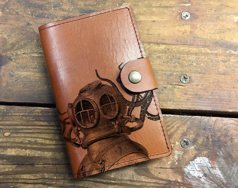 Aquanaut - Leather Journal Cover