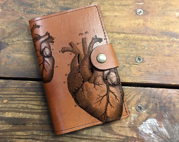 Anatomical Heart - Leather Journal Cover