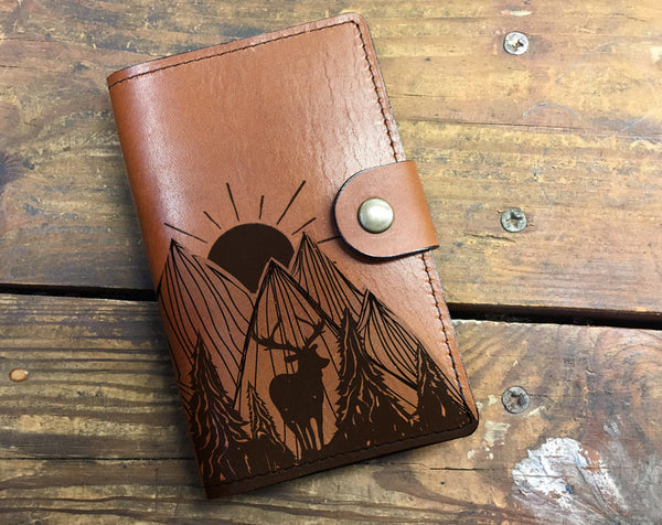 Nature Deer - Leather Journal Cover