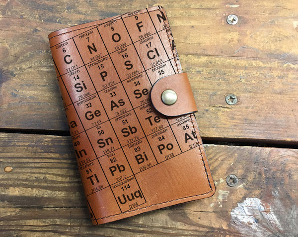 Periodic Table - Leather Journal Cover