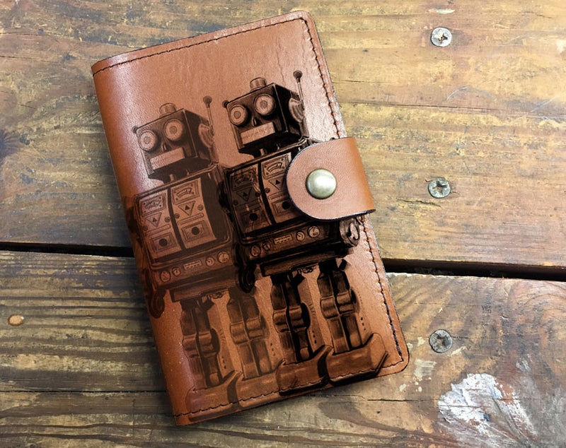 Robots - Leather Journal Cover