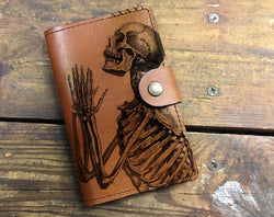 Praying Skeleton - Leather Journal Cover Wholesale