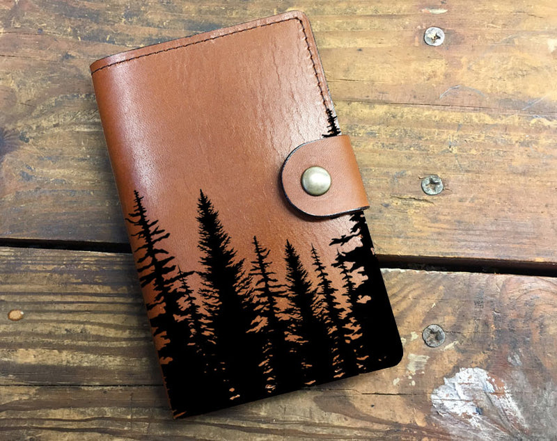 Treeline - Leather Journal Cover