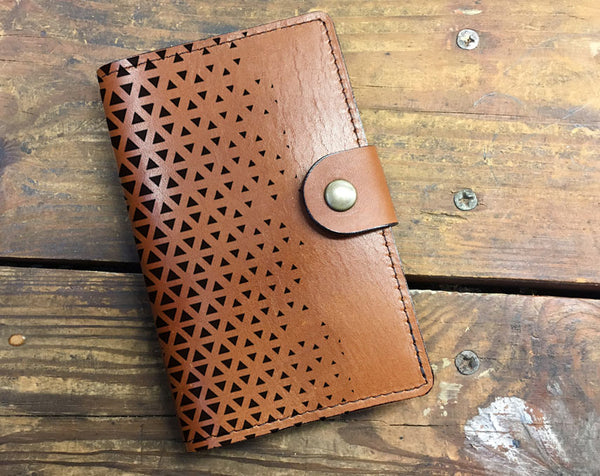 Triangles - Leather Journal Cover