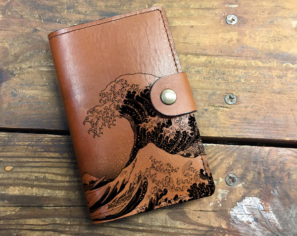 Waves - Leather Journal Cover