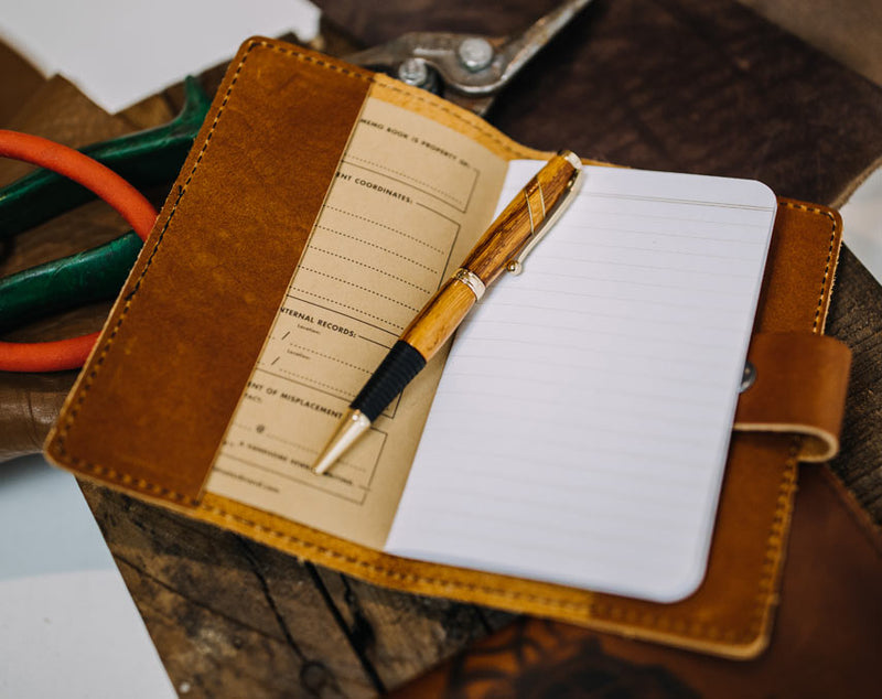 Waves W- Leather Journal