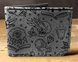 Tattoo Pattern - Printmaker Leather Wallet