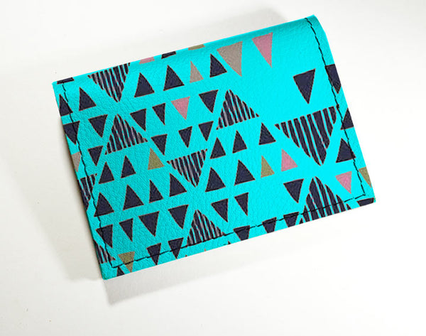 Turq Triangles - Vinyl Mini wallet Wholesale