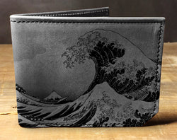 Waves - Printmaker Leather Wallet