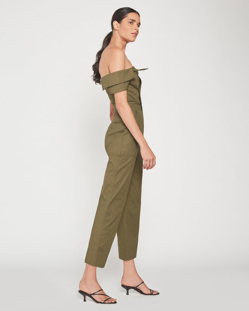 Rylan Canvas Jumpsuit in Forest