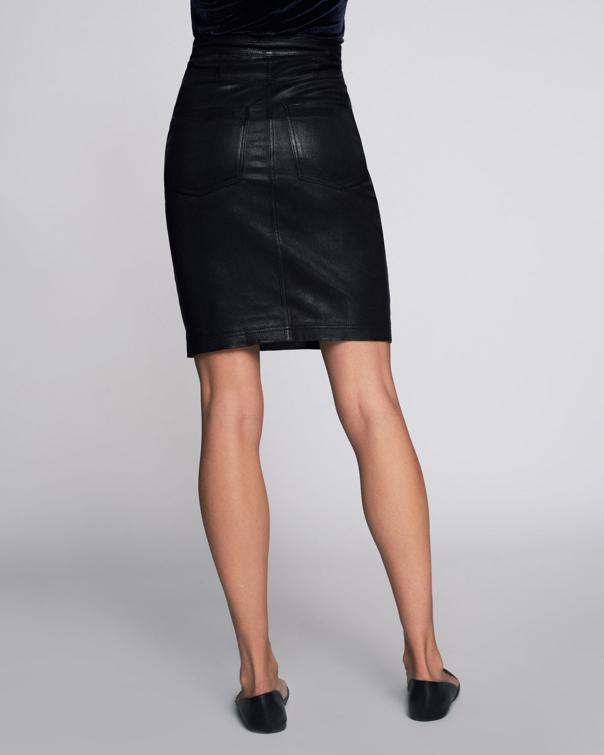 Nell Stretch Leather Skirt