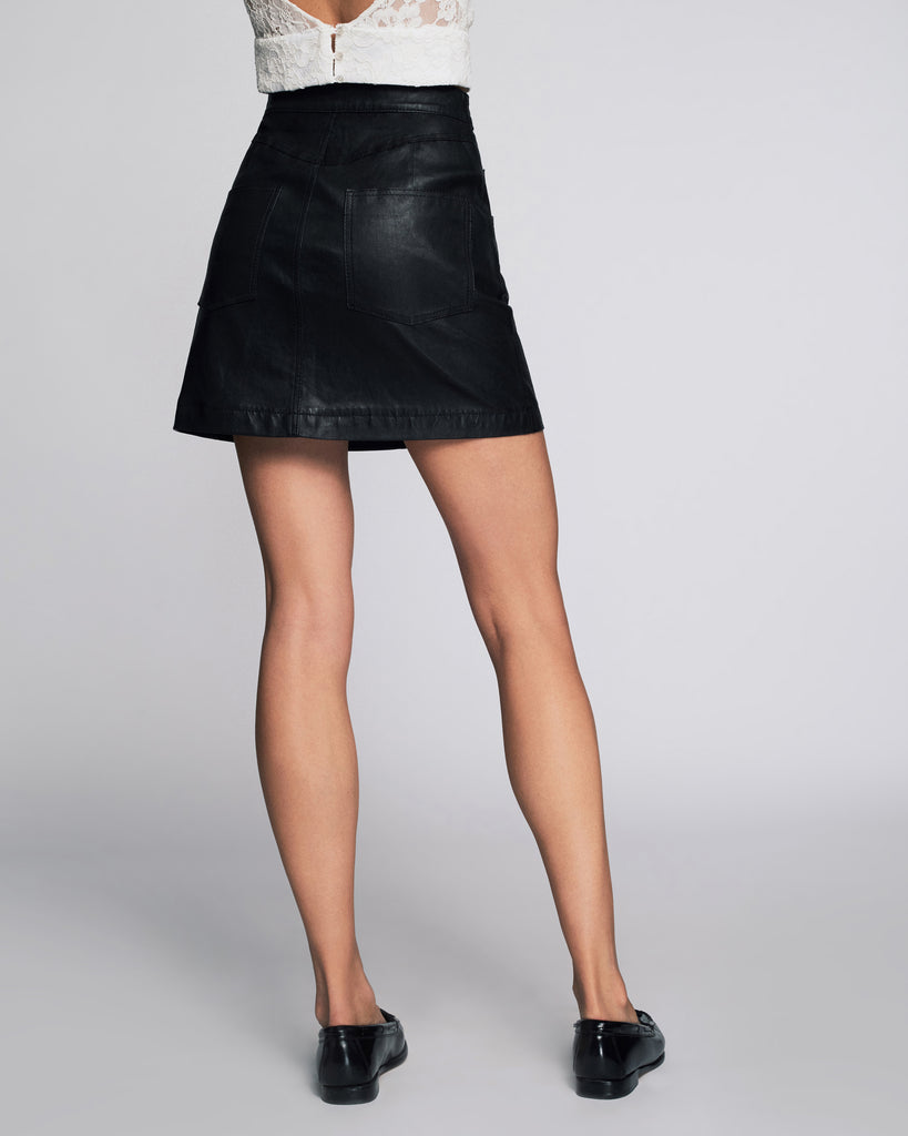 Rowena Stretch Leather Skirt