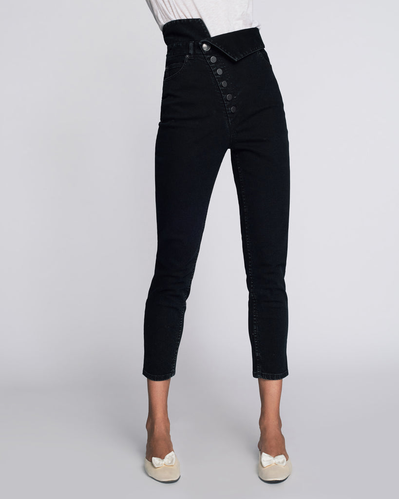 Erica Denim Pant in Pitch Black