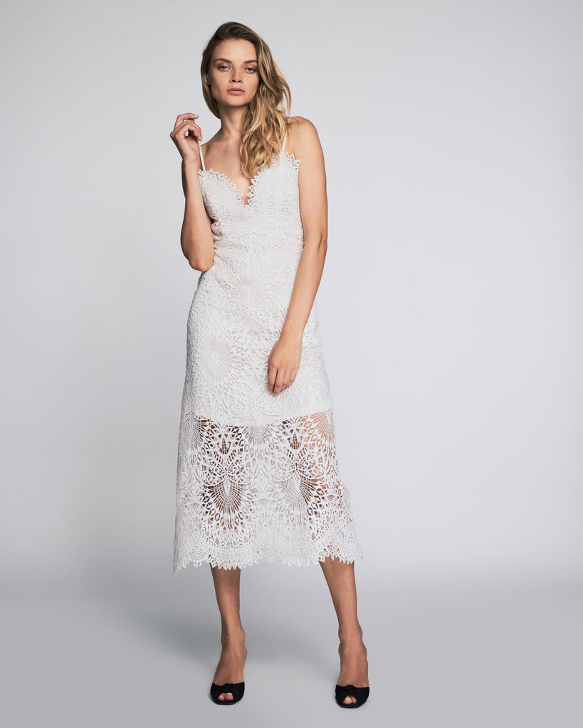 Dillon Dress in Soft White