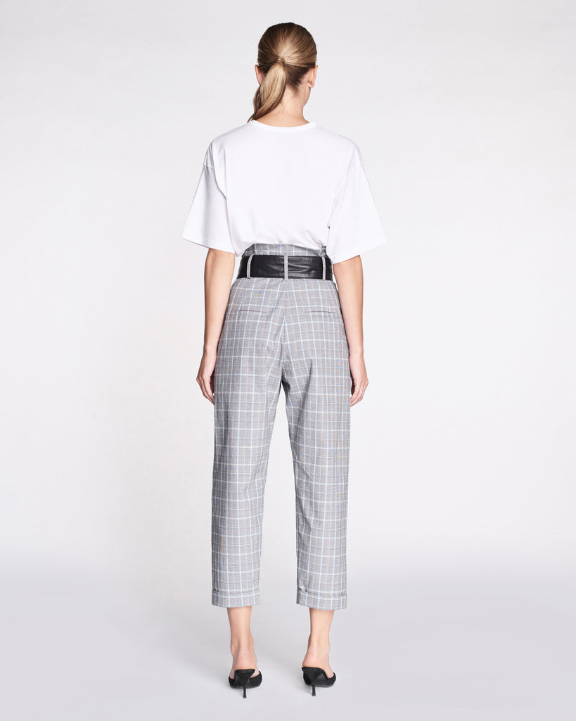 Anders Plaid Pant with Leather Belt
