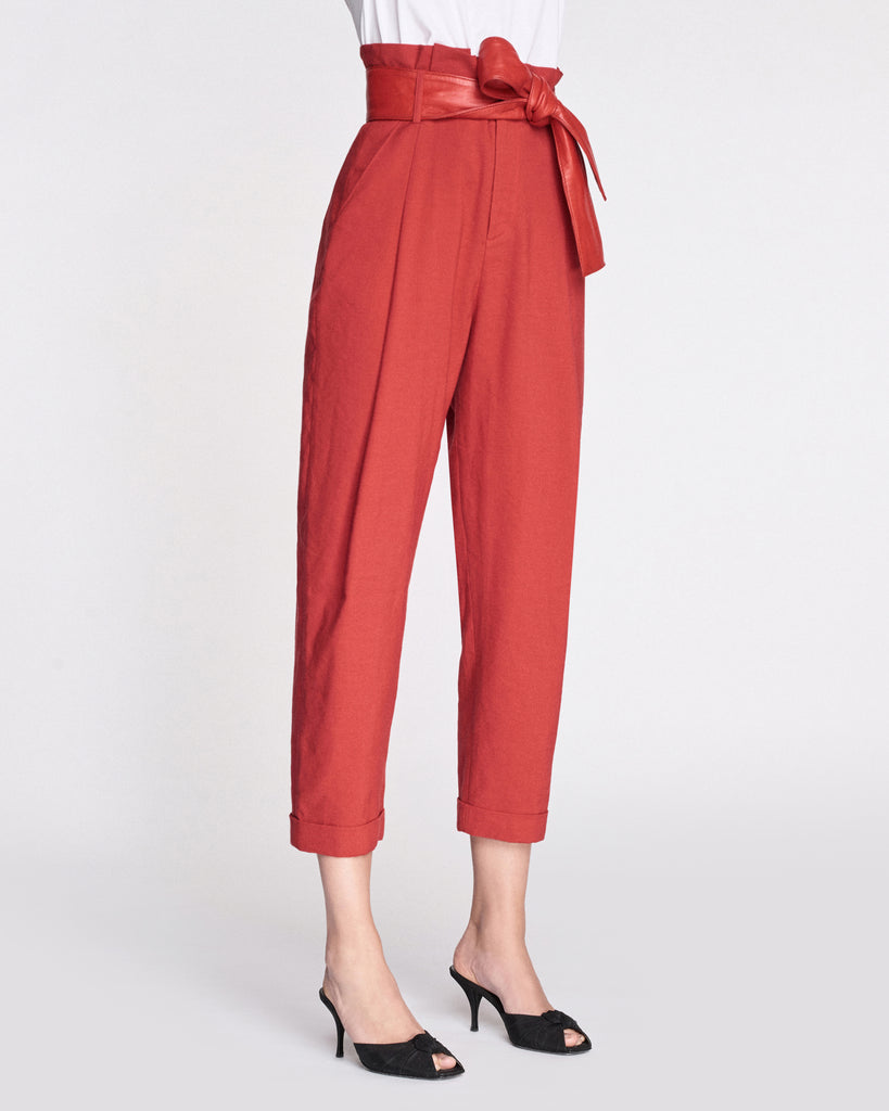 Anders Linen Pant with Leather Belt