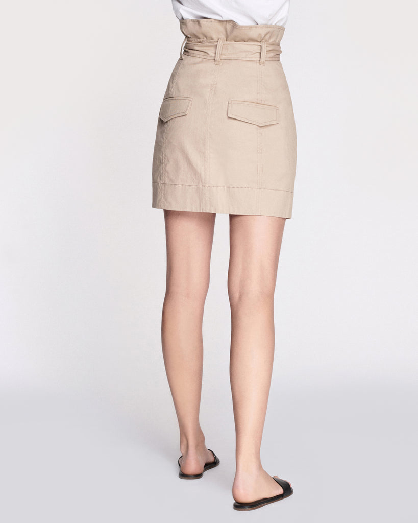 Ella Lightweight Canvas Mini Skirt in Sandshell