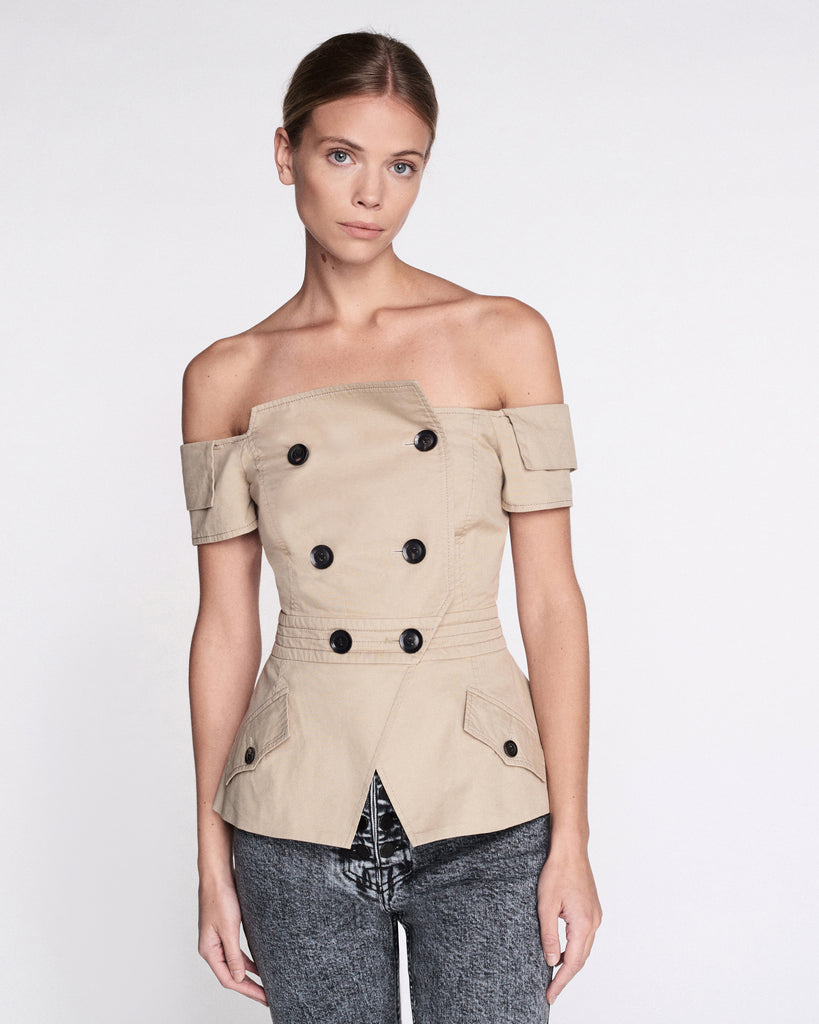 Chantel Canvas Jacket in Sandshell