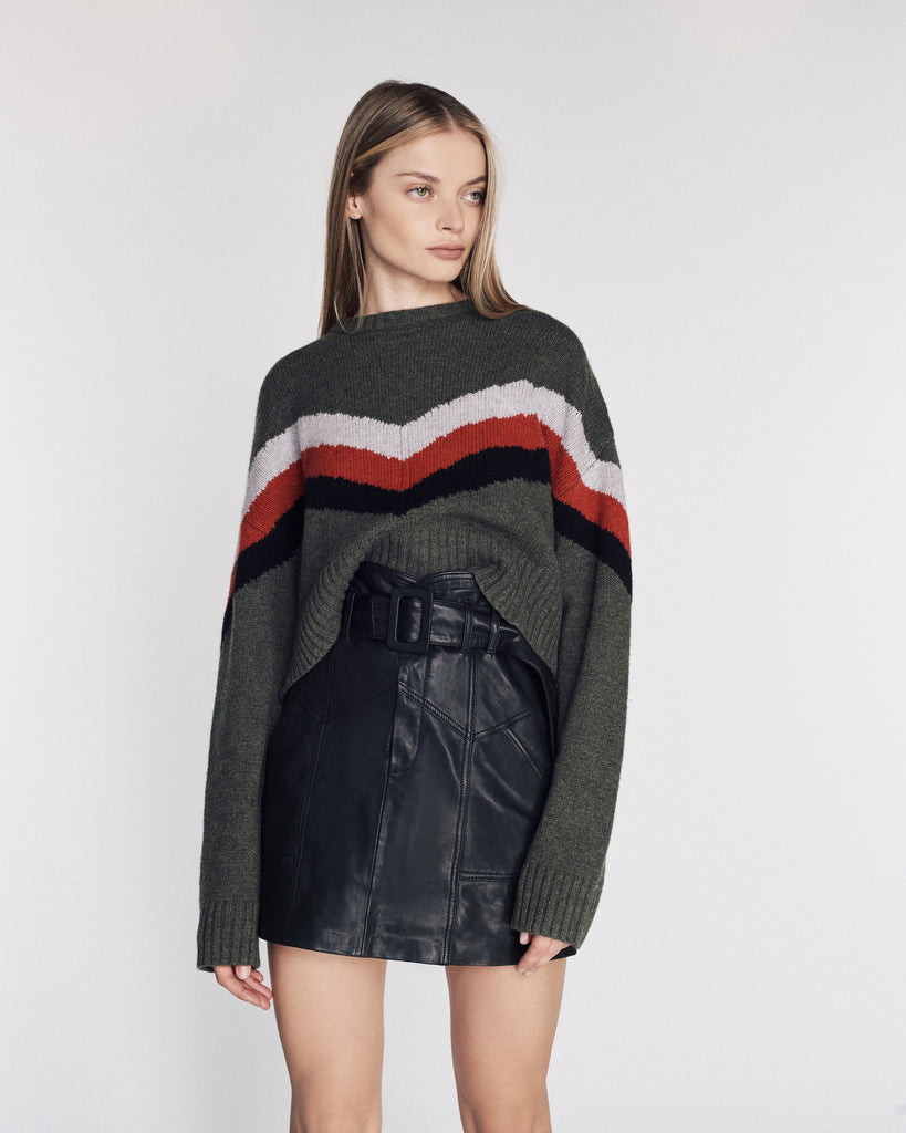 Lukas Ski Sweater in Olive Combo