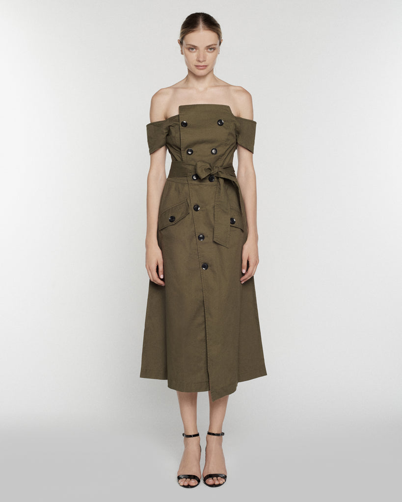 Jensen Canvas Dress in Forest