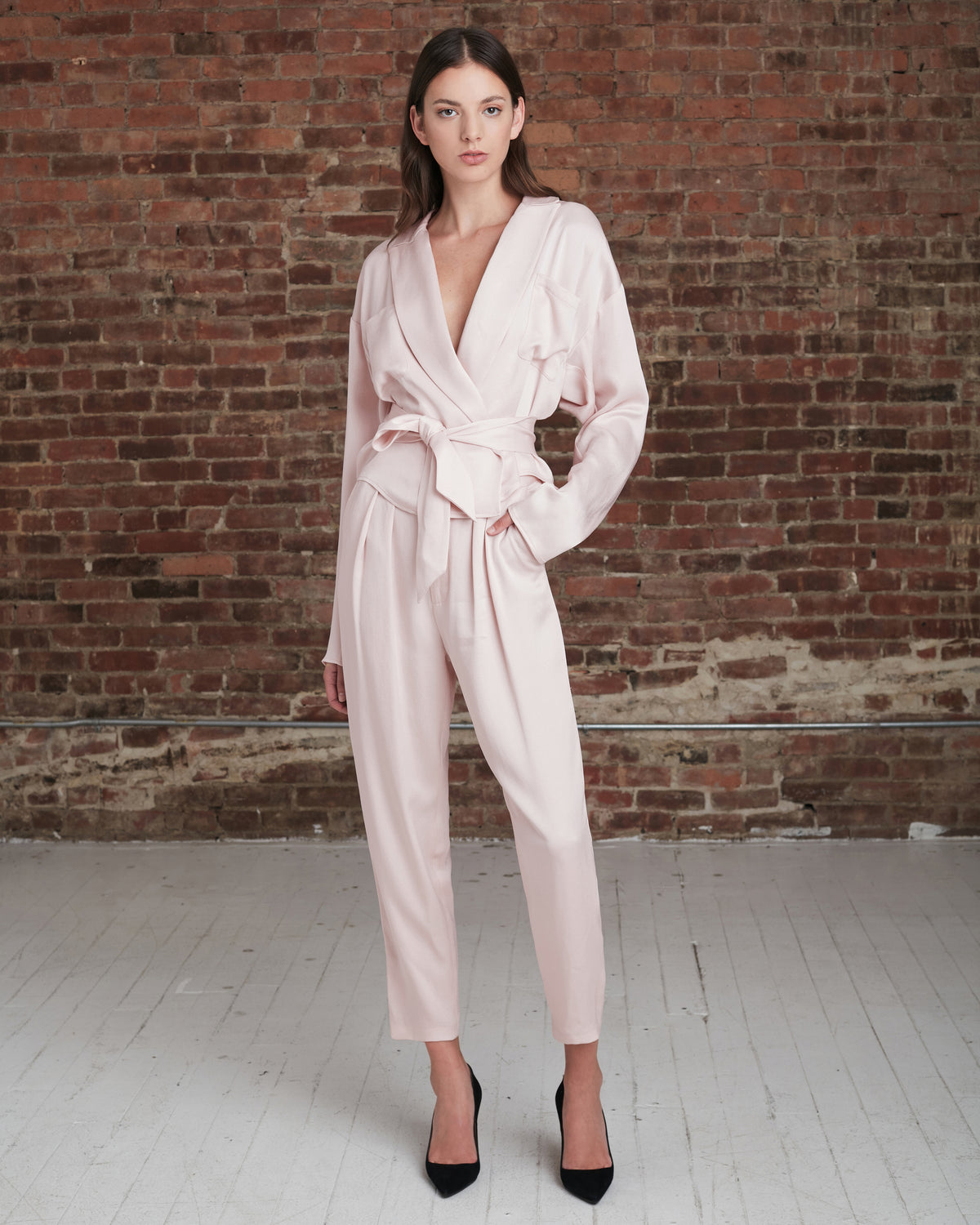 Riley Satin Crepe Trouser_Blush_Front_2