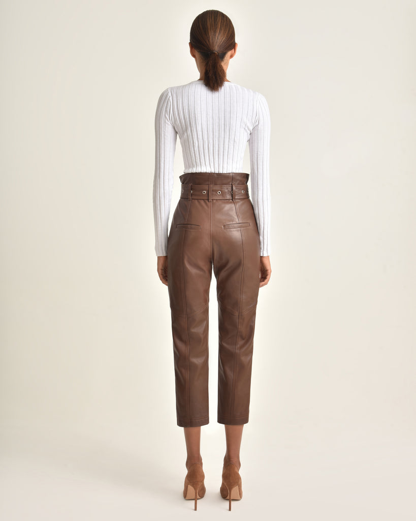 Anniston Leather Pant_Chesnut_Back