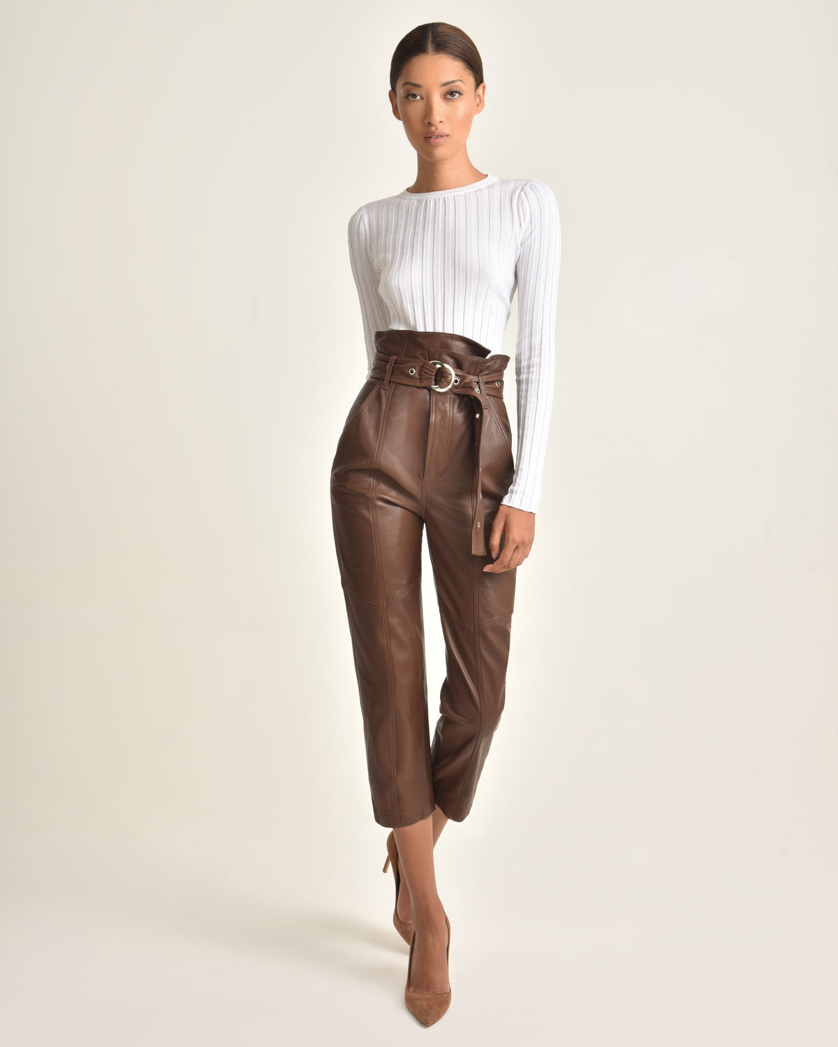 Anniston Leather Pant_Chesnut_Front 2