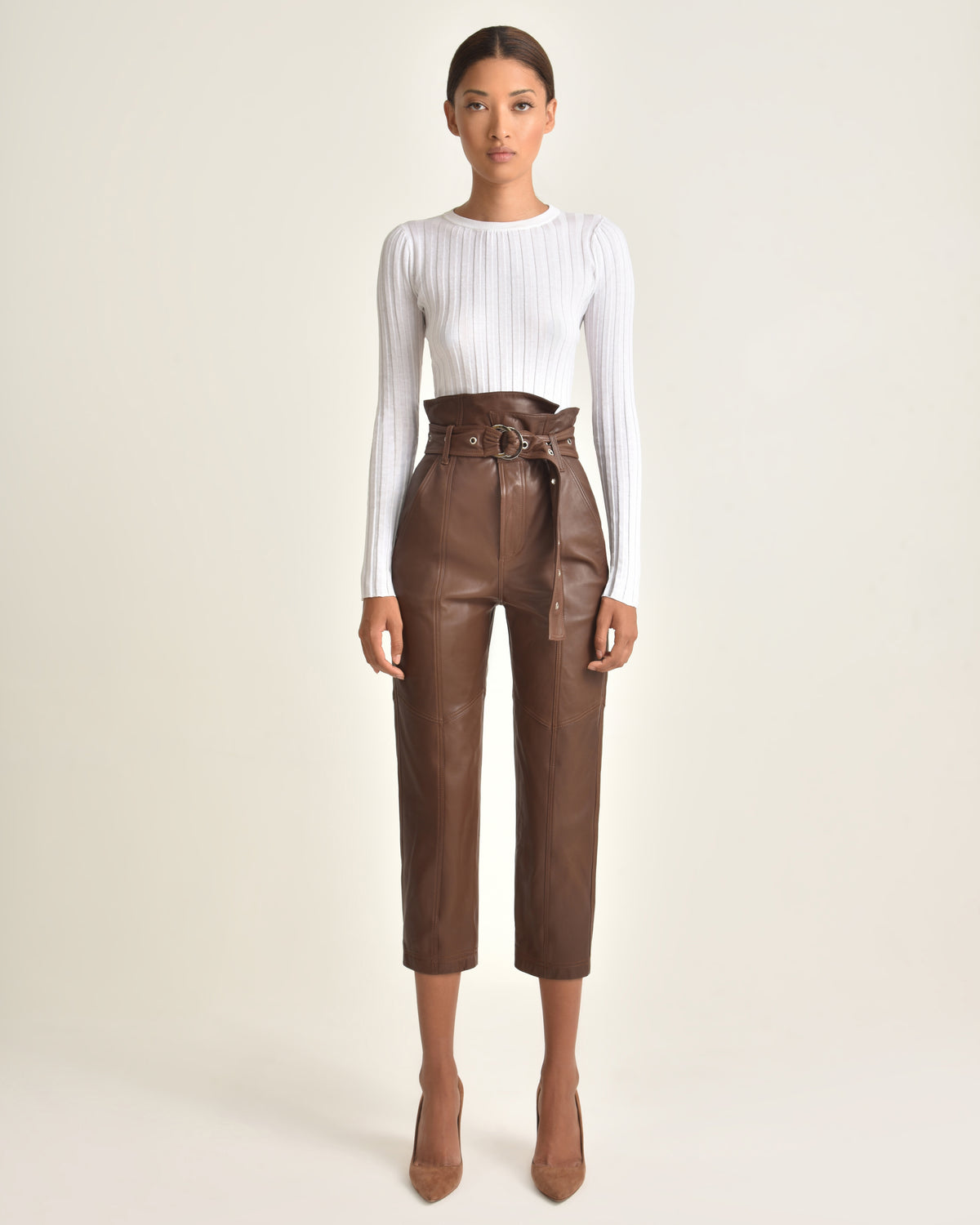 Anniston Leather Pant_Chesnut_Front 3