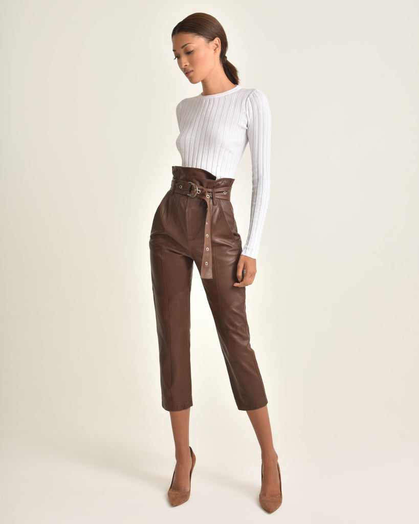 Anniston Leather Pant_Chesnut_Front 4