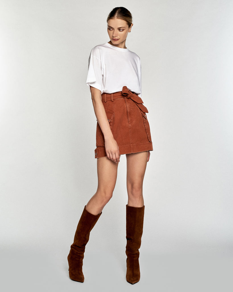 Belle Canvas Mini Skirt