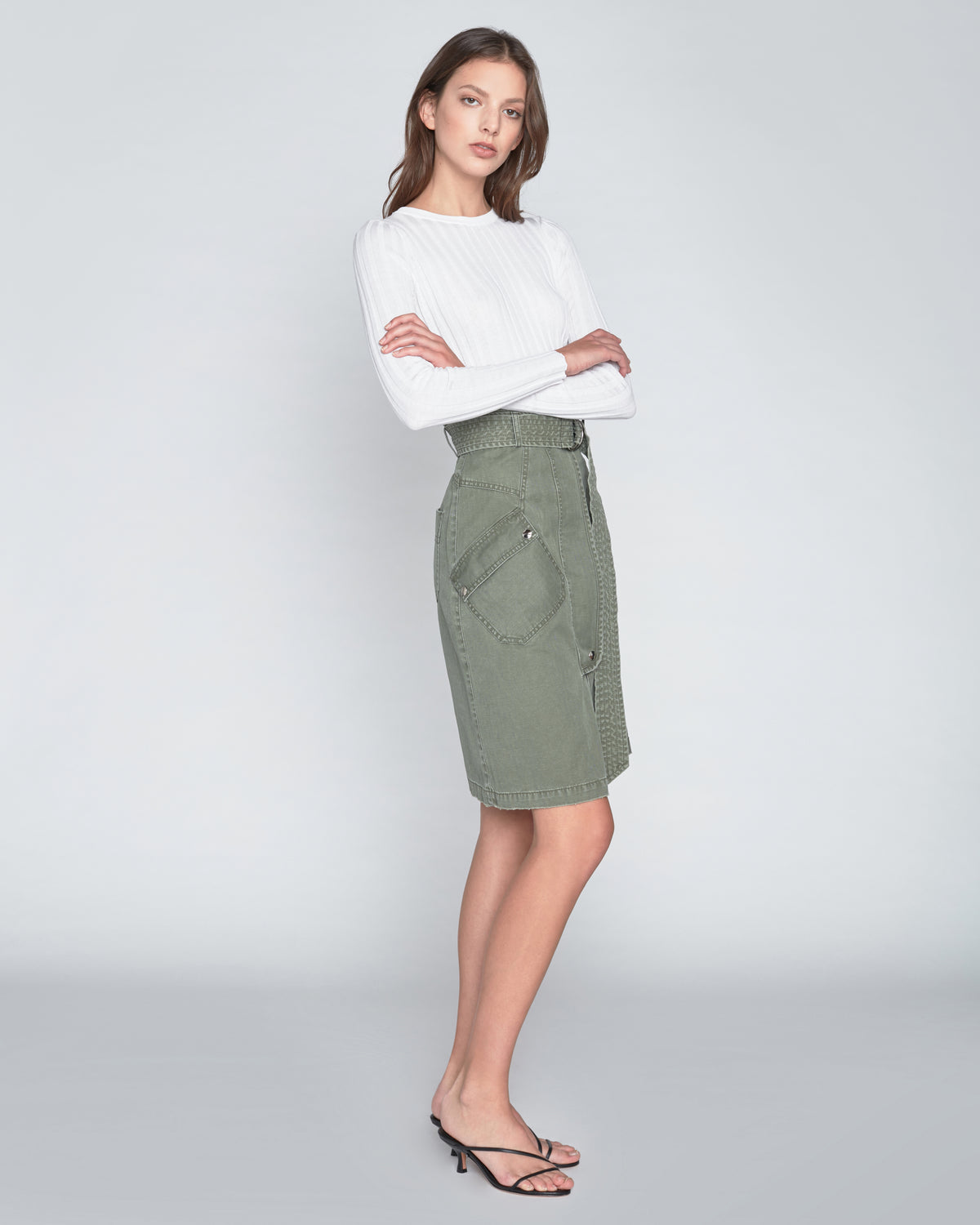 Brooke Canvas Long Skirt