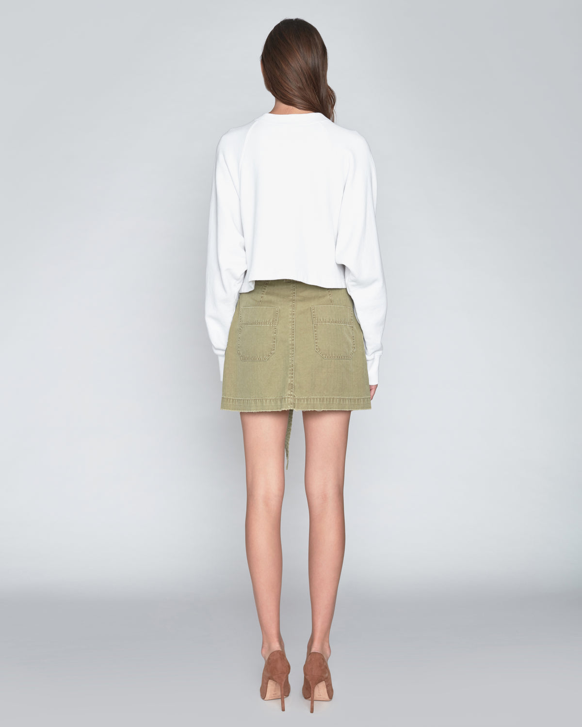 Brooke Canvas Mini Skirt